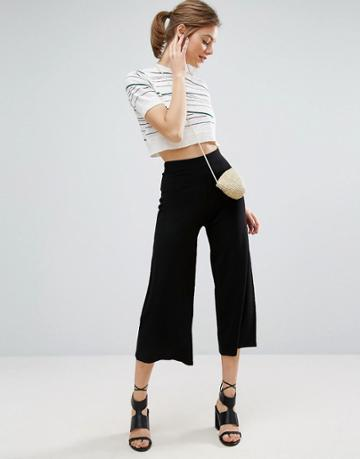 Asos Knitted Culottes - Gray