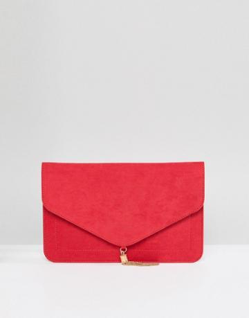 Asos Tassel Clutch Bag - Red