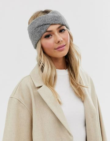 Pieces Knitted Headband - Gray