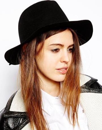 Asos Felt Fedora Hat With Plait Braid