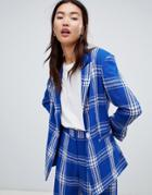 Asos Design Tailored Picnic Check Blazer - Multi