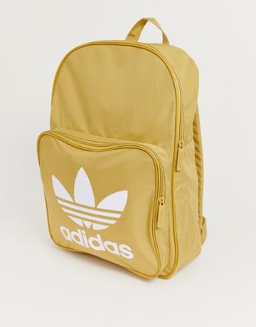 Adidas Originals Trefoil Backpack In Beige - Beige