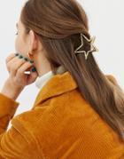 Asos Design Hair Clip In Star Design In Gold - Gold
