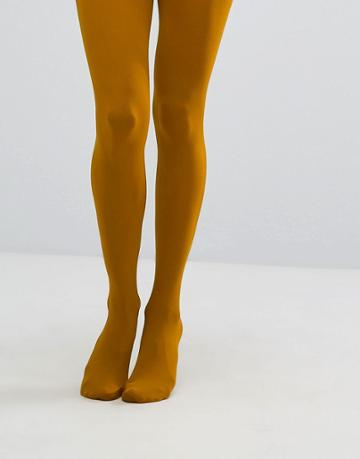 Gipsy 100 Denier Luxury Opaque Tights - Yellow