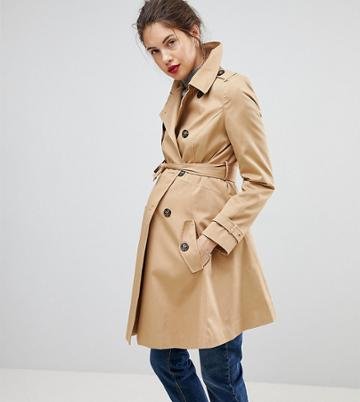 Asos Maternity Classic Trench Coat - Stone