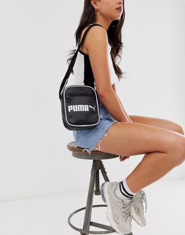 Puma Campus Portable Retro Black Bag - Black
