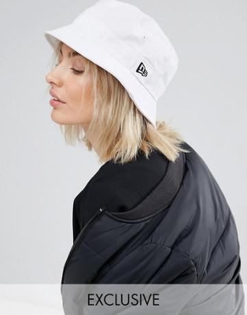 New Era White Bucket Hat - White