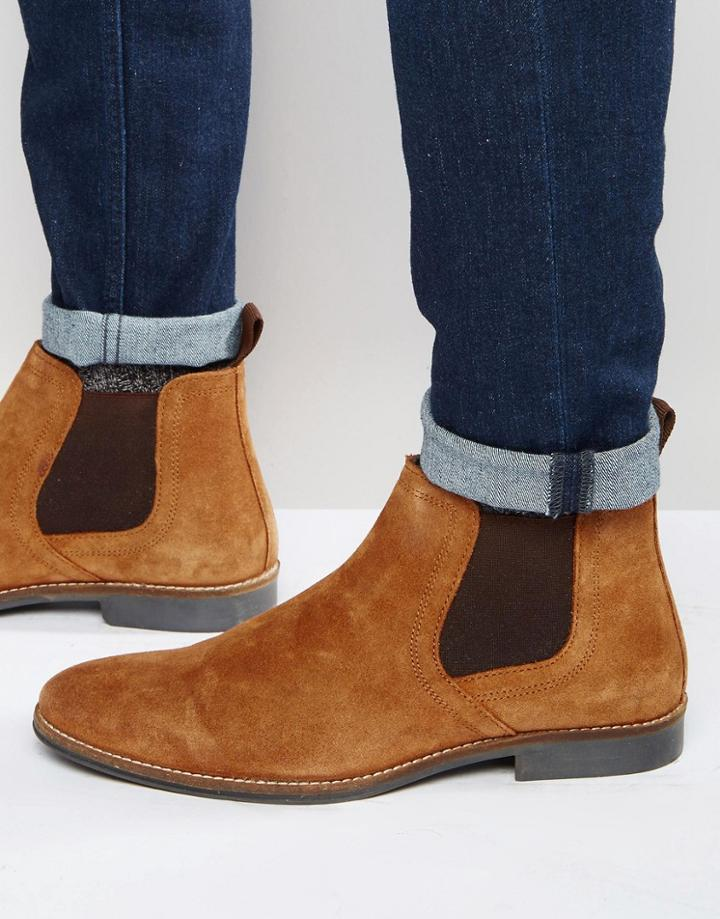 Red Tape Chelsea Boots Tan Suede - Tan