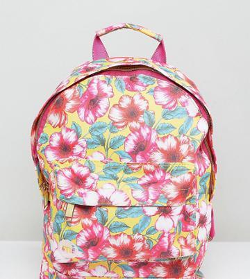Mi-pac Exclusive Mini Tumbled Backpack In Flower Print - Multi