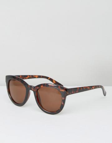 Pieces Tortoiseshell Sunglasses - Silver
