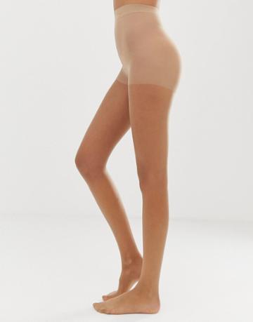 Gipsy Soft Luxury Gloss 15 Denier 2 Pack Tights In Beige - Beige