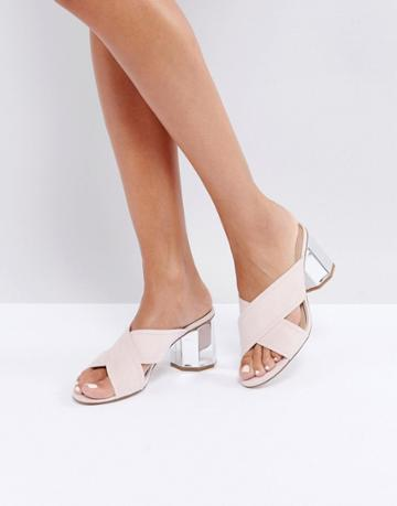 Miss Selfridge Hexagon Mule - Pink