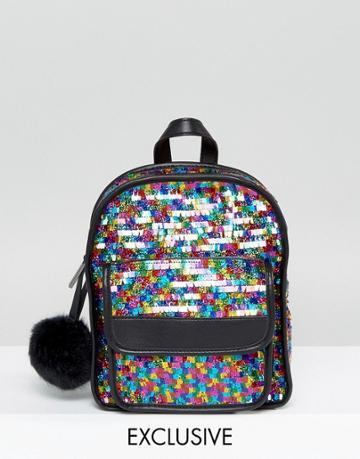 Skinnydip Pinata Sequin Backpack - Multi