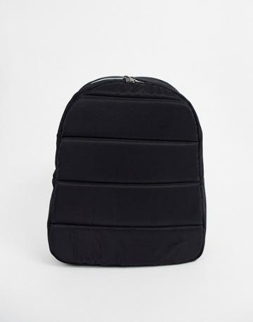 Jack & Jones Padded Backpack In Black