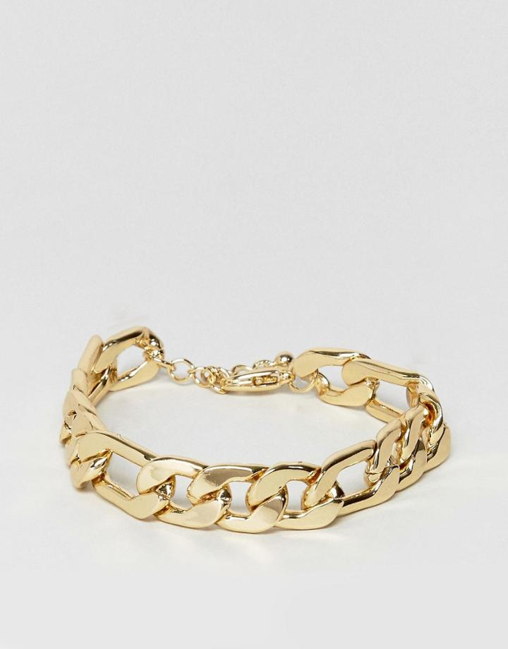 Asos Gold Plated Heavyweight Chain Bracelet - Gold