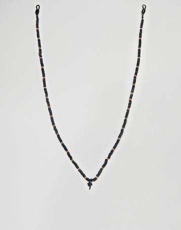 Classics 77 Beaded Sunglasses Chain In Black - Black