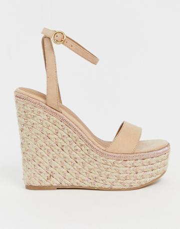 Asos Design Justina Espadrille Wedges - Gold