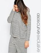 Asos Curve Slouchy Top In Stripe - Stripe
