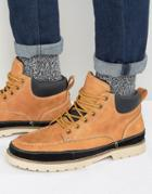 Call It Spring Botts Laceup Boots - Tan