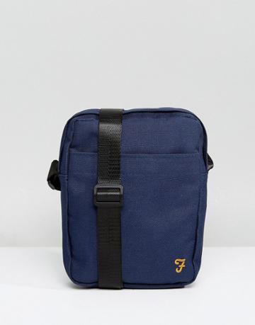 Farah Spencer Messenger Bag In Navy - Navy