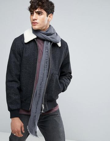 Esprit Scarf In Herringbone - Gray
