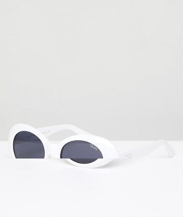 Quay Australia X Sofia Richie Frivolous Cat Eye Sunglasses In White - White