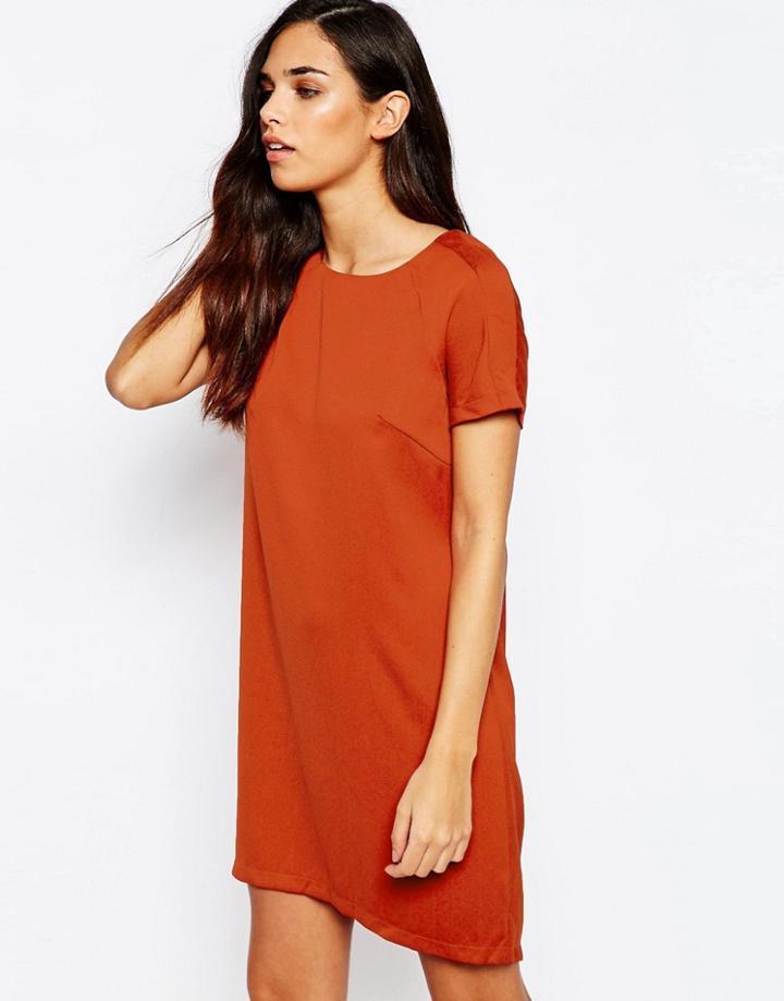 Ax Paris Shift Dress - Rust