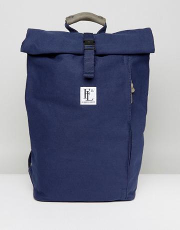Forbes & Lewis Rollie Rolltop Backpack - Navy