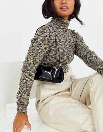 Asos Design Mini 90s Shoulder Bag In Patent