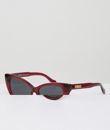 Sonix Kyoto Cat Eye Sunglasses In Red - Brown