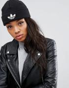 Adidas Originals Knitted Beanie With Trefoil Logo - Black