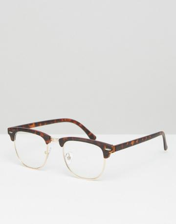Jeepers Peepers Retro Glasses - Brown