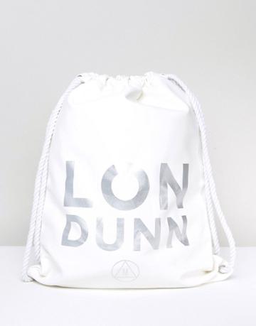 Missguided Londunn Faux Leather Drawstring Bag - White