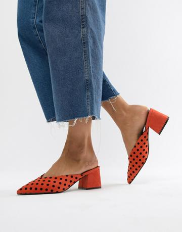Asos Design Starship Heeled Mules - Multi