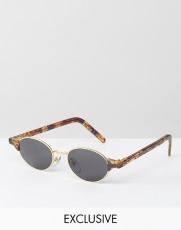 Reclaimed Vintage Inspired Metal Round Sunglasses In Gold - Gold