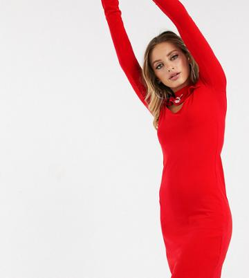Puma Cut Out Dress In Red Exclusive To Asos