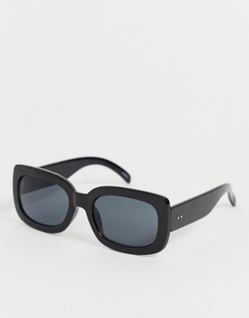 Selected Femme Square Lens Chunky Sunglasses - Black