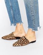 Vagabond Katlin Leopard Print Faux Pony Fur Mules - Multi