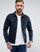 Pull & Bear Lightweight Denim Jacket In Navy - Navy