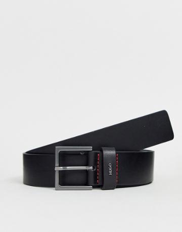 Hugo Giove Logo Keeper Belt In Black - Black