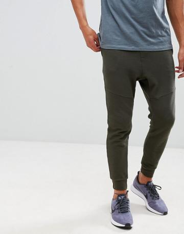 Pull & Bear Cuffed Jogger In Khaki - Green