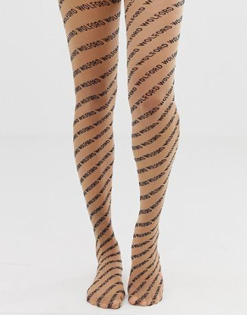 Wolford All Over Logo Tights - Multi