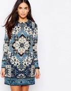 Warehouse Tapestry Print Shift Dress - Multi
