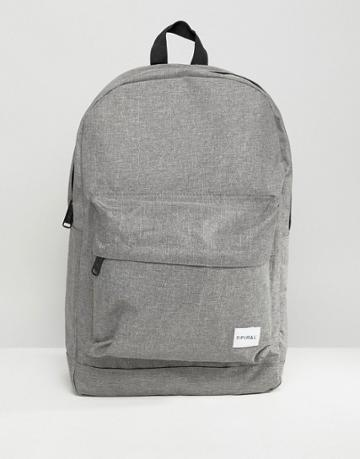 Spiral Backpack In Gray Crosshatch - Gray