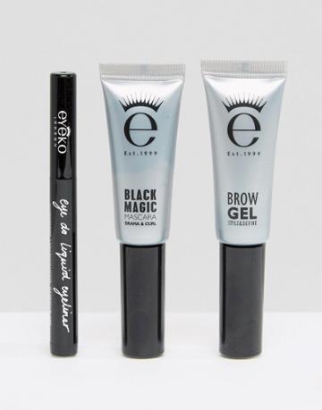 Eyeko Mini Eye And Brow Set - Black