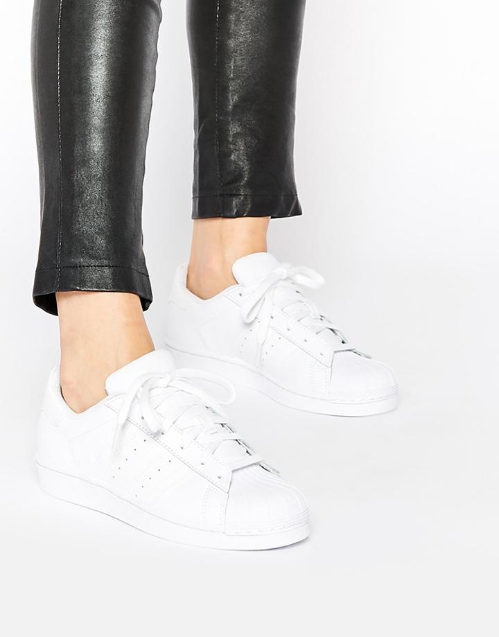 Adidas Originals Superstar Foundation White Sneakers - White