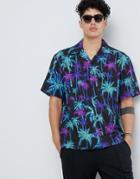 Weekday Skyway Palm Shirt - Black