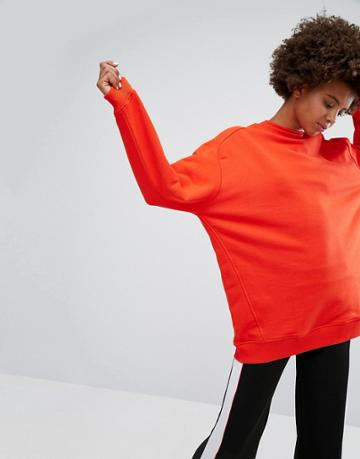 Monki Oversized Sweat Sweater - Red