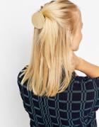 Asos Premium Smooth Circle Hair Clip - Gold