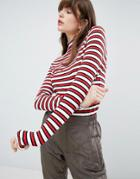 Mads Norgaard Striped Rib Turtleneck Top - Multi